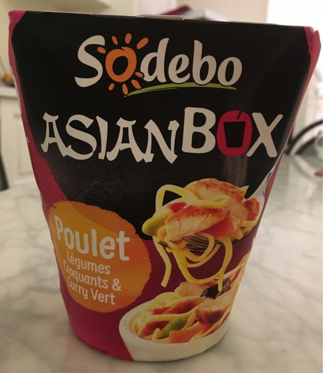 AsianBox Poulet legumes croquants & curry vert - Product - fr