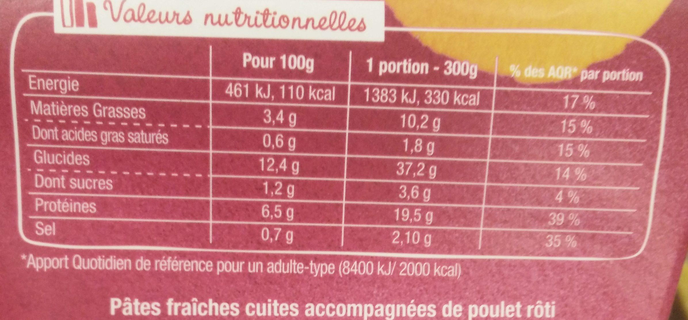 AsianBox Poulet legumes croquants & curry vert - Voedingswaarden - fr