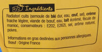 XtremBox - Radiatori  Bœuf Sauce au poivre - Ingrédients