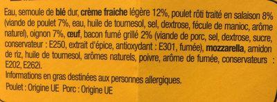 XtremBox - Poulet Bacon Creamy Oignon - Ingrédients - fr
