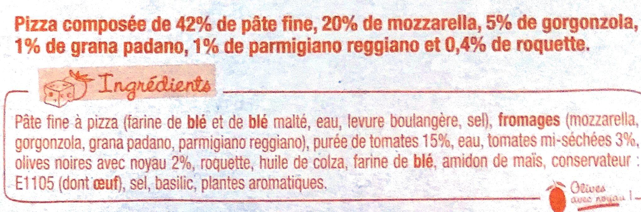 Sodebo Dolce Pizza - 4 Formaggi - Ingredienti - fr