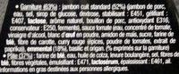 Pizza Jambon Emmental - Ingrédients - fr