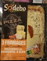 Sodebo La pizza style 3 fromages - Product - fr