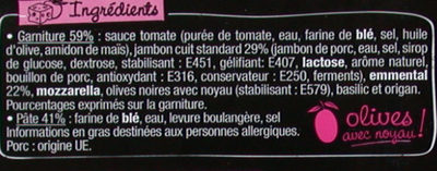 La Pizz - Jambon Emmental - Ingredients