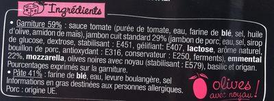 LA PIZZ Jambon Emmental - Ingrédients - fr