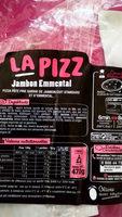 LA PIZZ Jambon Emmental - Informations nutritionnelles - fr