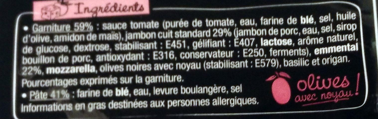 La Pizz Jambon Emmental - Ingrédients