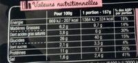 La Pizz Jambon Emmental - Informations nutritionnelles