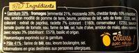 La Pizz 4 Fromages - Ingrédients - fr