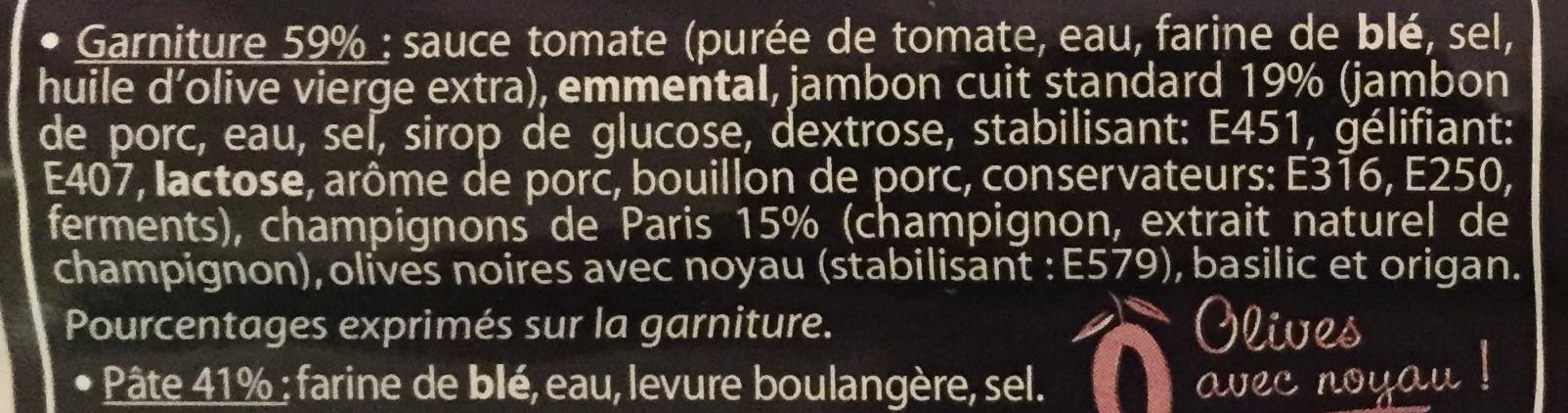 La Pizz - Jambon Champignons de Paris - Ingrédients