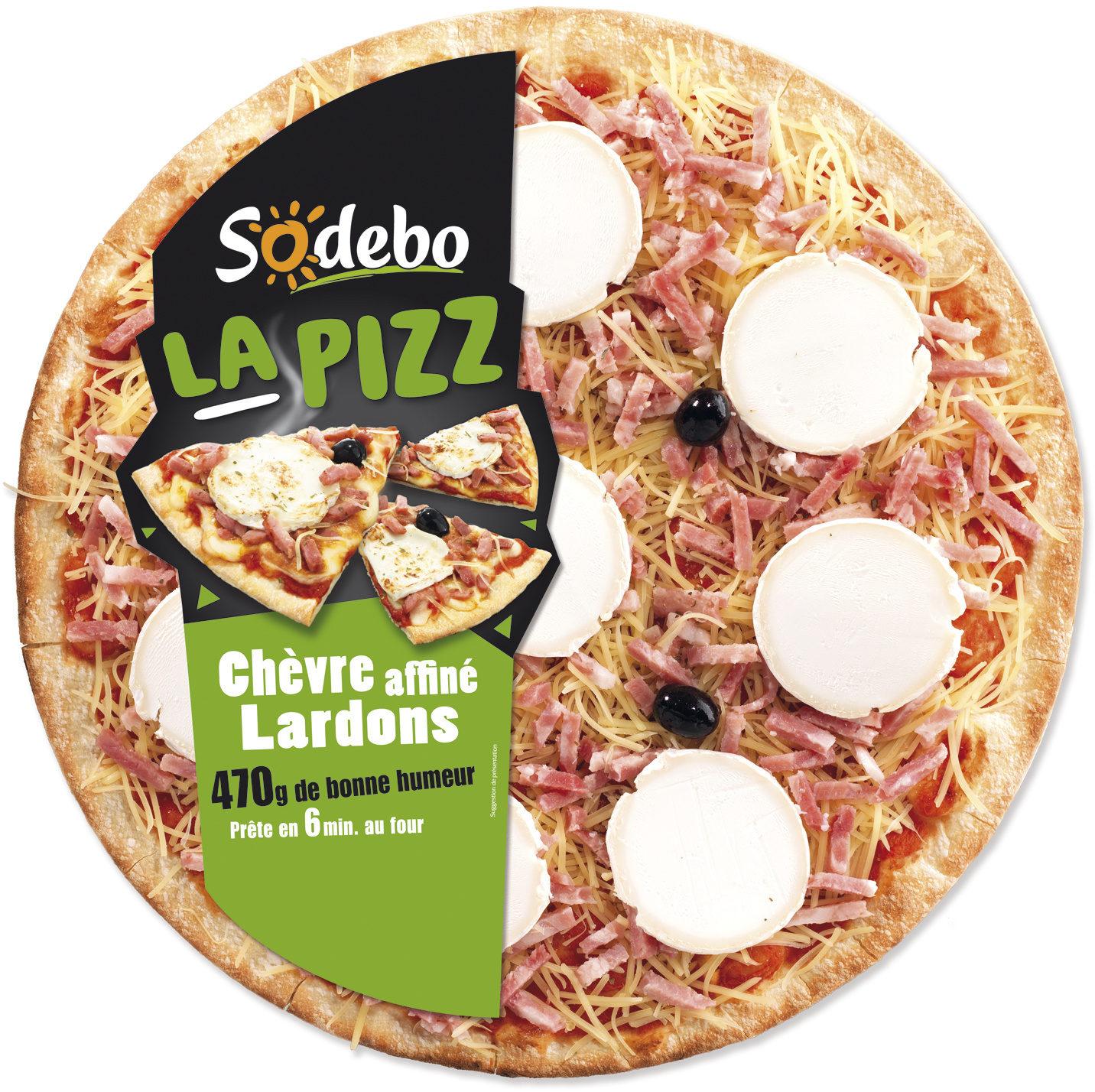 La Pizz - Chèvre affiné Lardons - Product