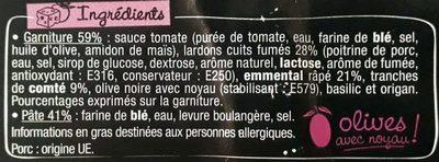 La Pizz - Lardons Emmental Comté - Ingredients