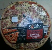 La pizza - Jambon, Champignon de Paris - Produit