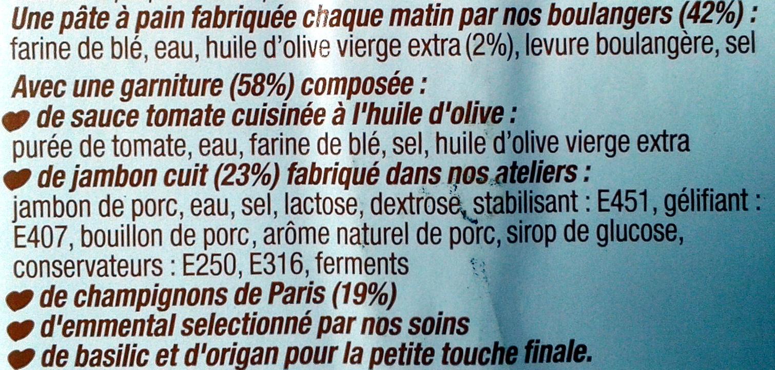 L'ovale Jambon champignons - Ingrediënten