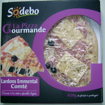 La pizza gourmande Lardons Emmental Comté - Product