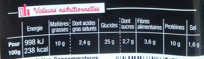 Sandwich Le Gourmand  Club - Jambon Cheddar - Informations nutritionnelles