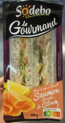 Sandwich Le Gourmand Club - Saumon fumé Pointe de citron - Produit