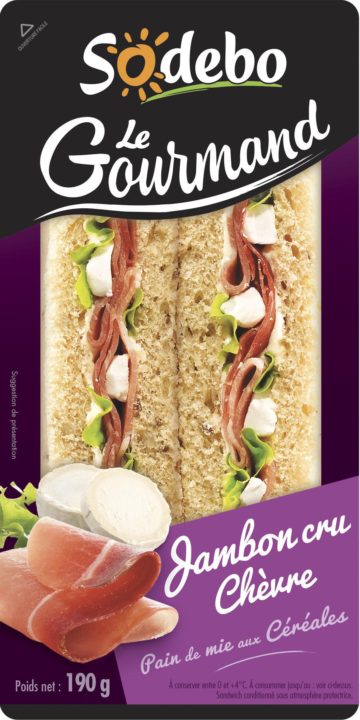 Sandwich Le Gourmand Club - Jambon cru Chèvre - Product