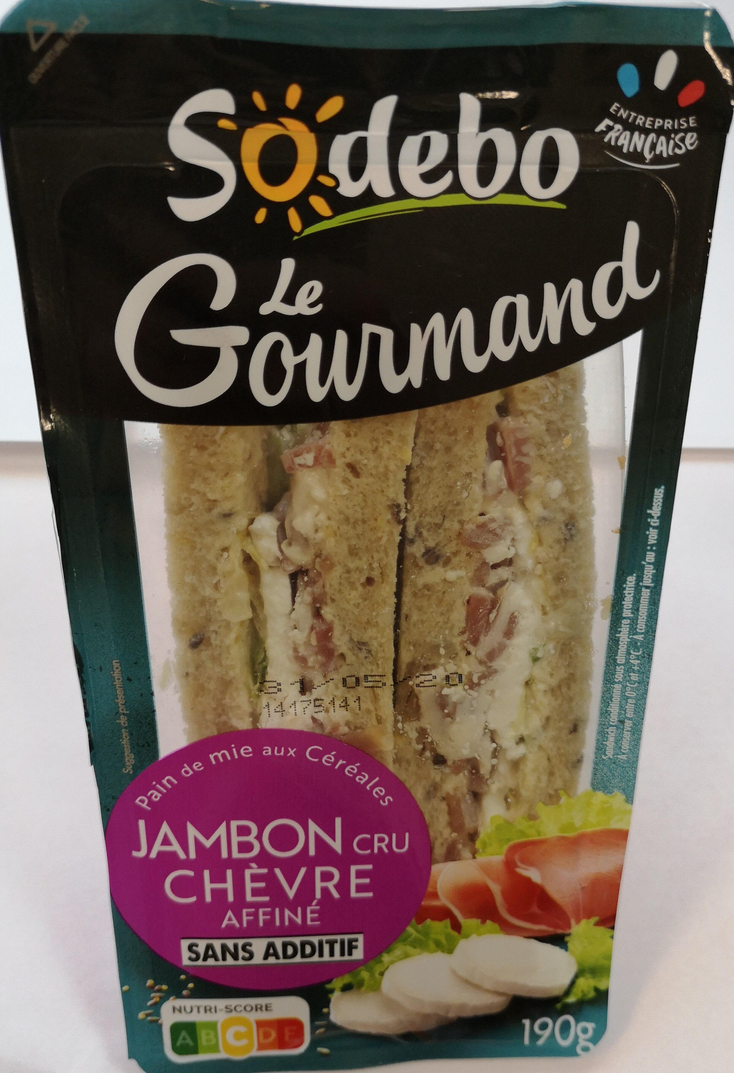Sandwich Le Gourmand Club - Jambon cru Chèvre - Product - fr