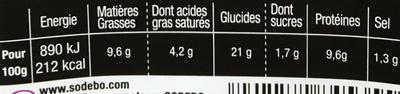 Sandwich Le Gourmand Club - Jambon cru Chèvre - Nutrition facts
