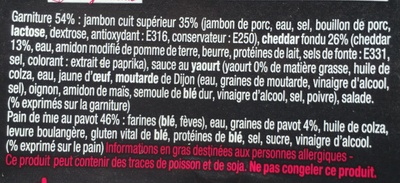 Le Sandwich du Chef Jambon Cheddar - Ingrédients - fr