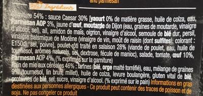 So Gourmand Poulet Caesar - Ingrédients - fr