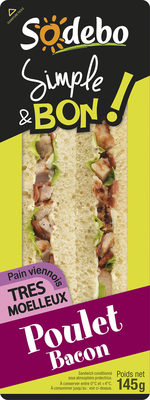 Sandwich Simple & Bon ! Club Viennois - Poulet Bacon - Produit