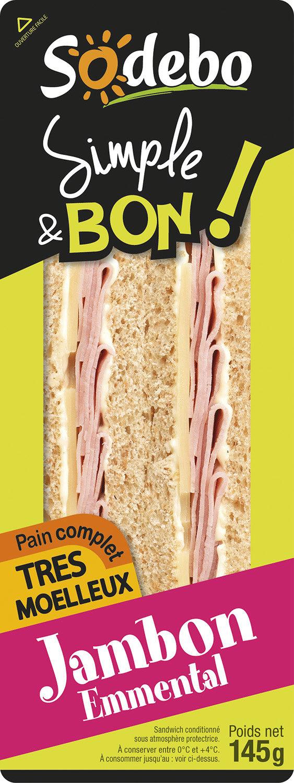 Sandwich Simple & Bon ! Club - Jambon Emmental - Product