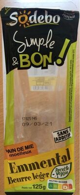 Simple & Bon Emmental beurre léger - Prodotto - fr