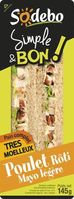 Sandwich Simple & Bon ! Club - Poulet rôti Mayo légère - Product