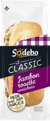 Sandwich Le Classic  - Jambon Rosette Cornichons - Produit - fr