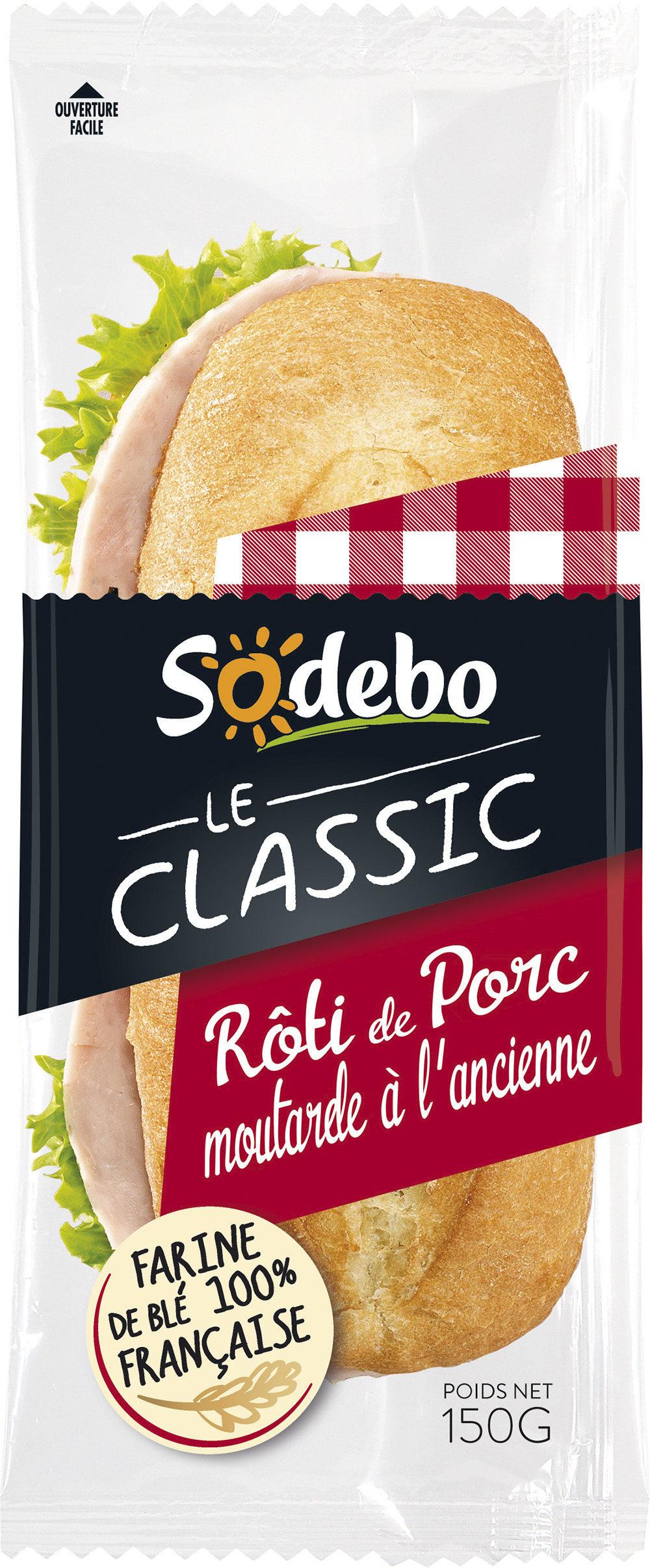 Sandwich Le Classic - Rôti de porc Moutarde à l'ancienne - Produit - fr