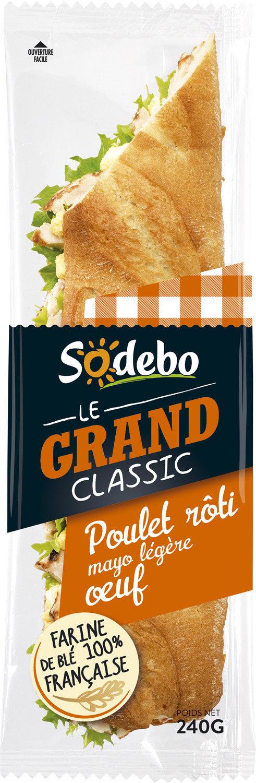 Sandwich Le Grand Classic - Poulet rôti Mayo légère Oeuf - Product