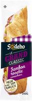 Sandwich Le Grand Classic - Jambon Rosette Cornichons - Produit - fr