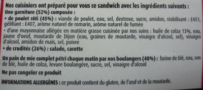 Maxi Poulet rôti crudités - Ingrédients - fr
