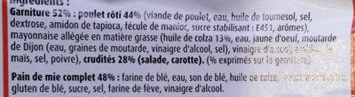 Maxi Poulet Rôti Crudités - Ingrediënten