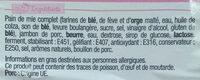 Sandwich Maxi Simple & Bon ! - Jambon Beurre - Ingrédients