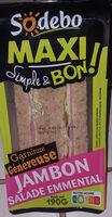 Sandwich Maxi Simple & Bon ! - Jambon Salade Emmental - Produit