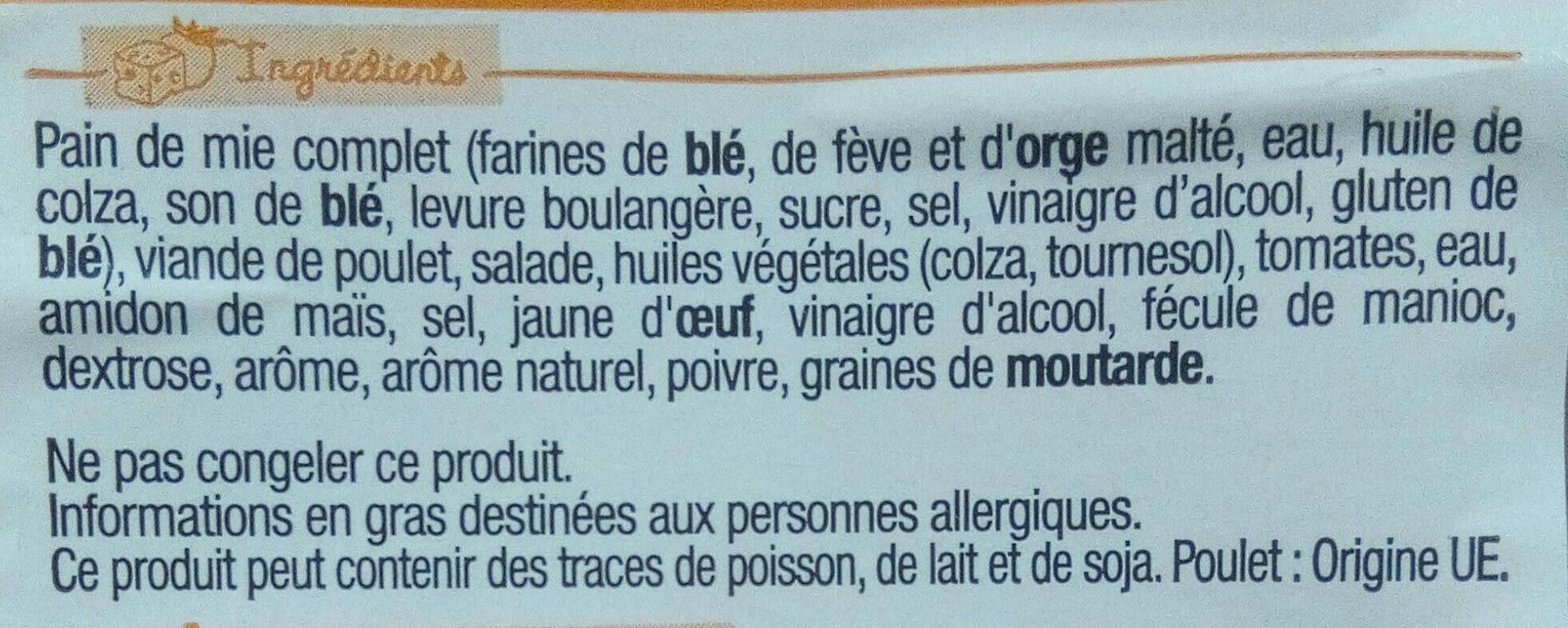 Sandwich Maxi Simple & Bon ! - Poulet rôti Crudités - Ingredients