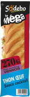 Sandwich Le Méga - Baguette - Thon  Œuf Sauce cocktail - Product