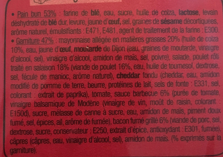 Le Méga bun ARIZONA - Ingredients