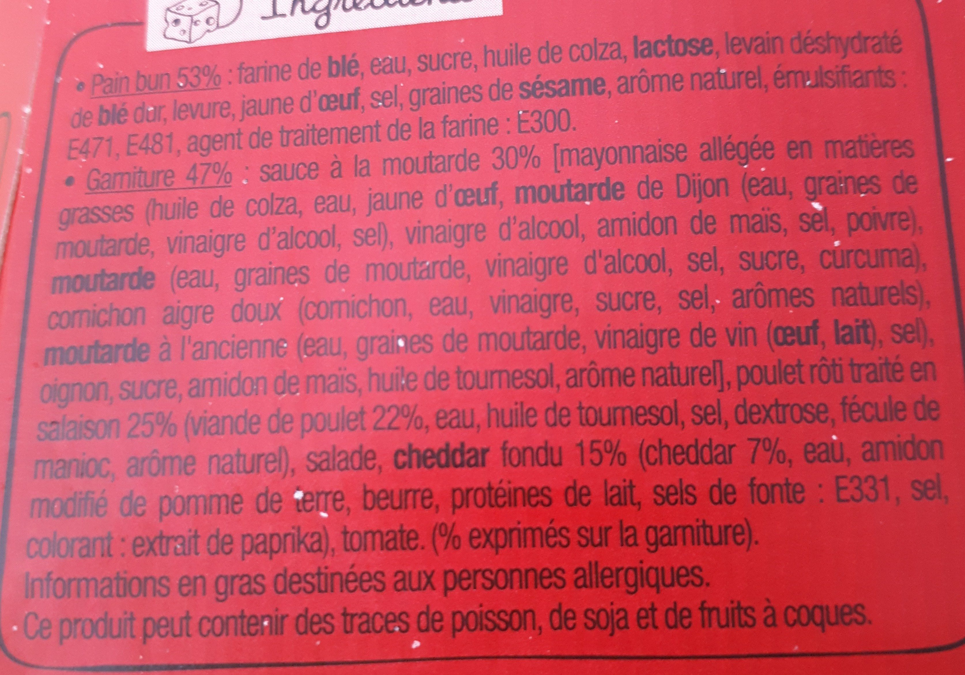 Le Méga Bun DENVER - Ingredients
