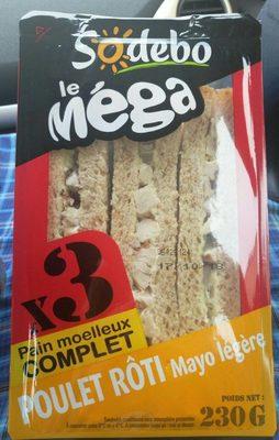 Sandwich poulet roti mayo légère - Product - fr