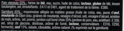 Sandwich Le Méga - Club - Jambon fumé Œuf x3 / pain viennois - Ingredients