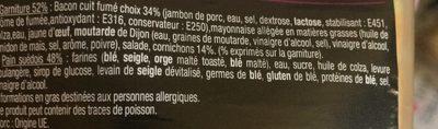Sandwich Le Méga club - Bacon Cornichon x3 / pain suédois - Ingredients