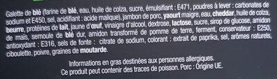 J'ai envie d'un wrap - Jambon Cheddar - Ingredienti