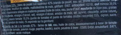 J'ai envie d'un wrap - Poulet Œuf mimosa - Ingrédients - fr