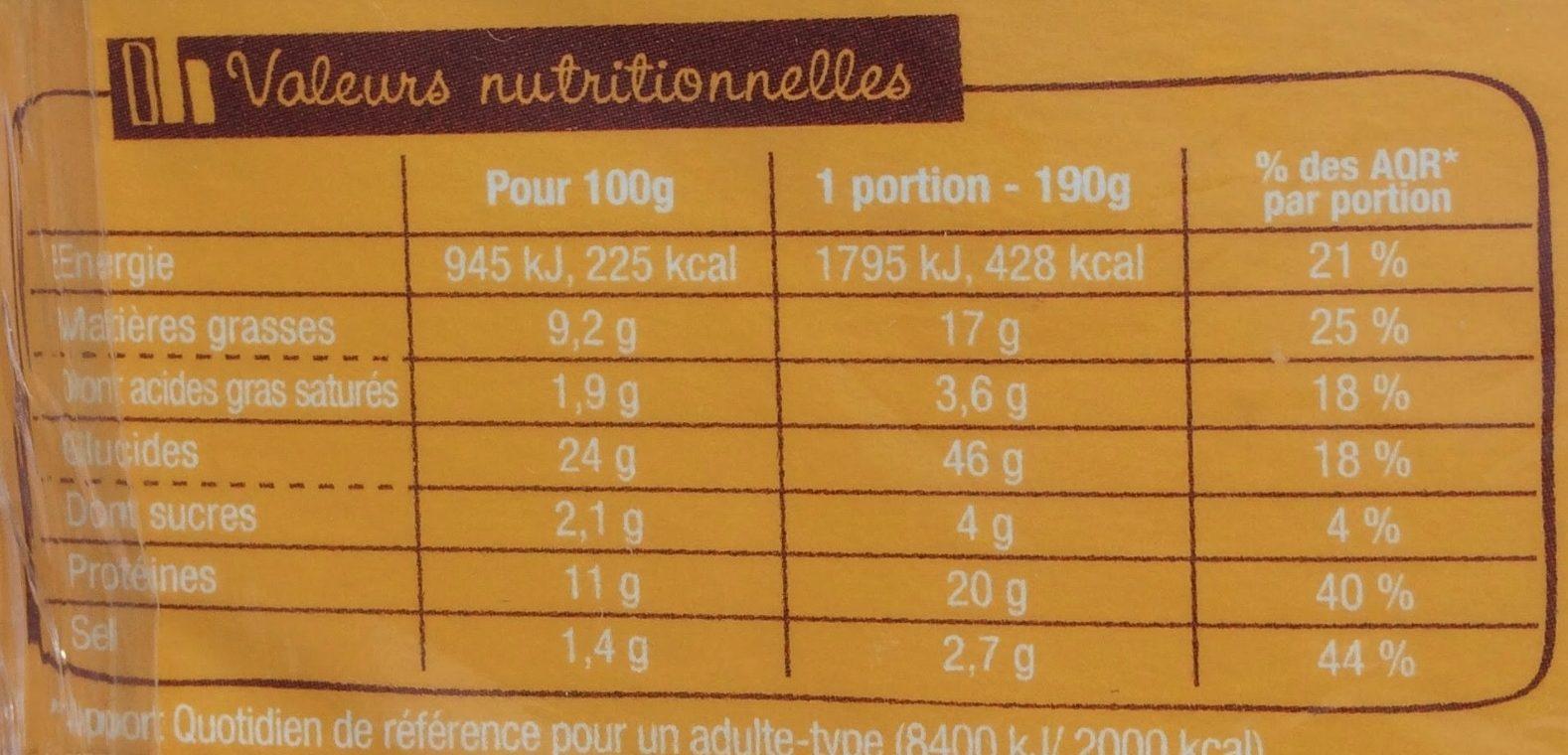 J'ai envie d'un wrap - Poulet Œuf mimosa - Informations nutritionnelles - fr