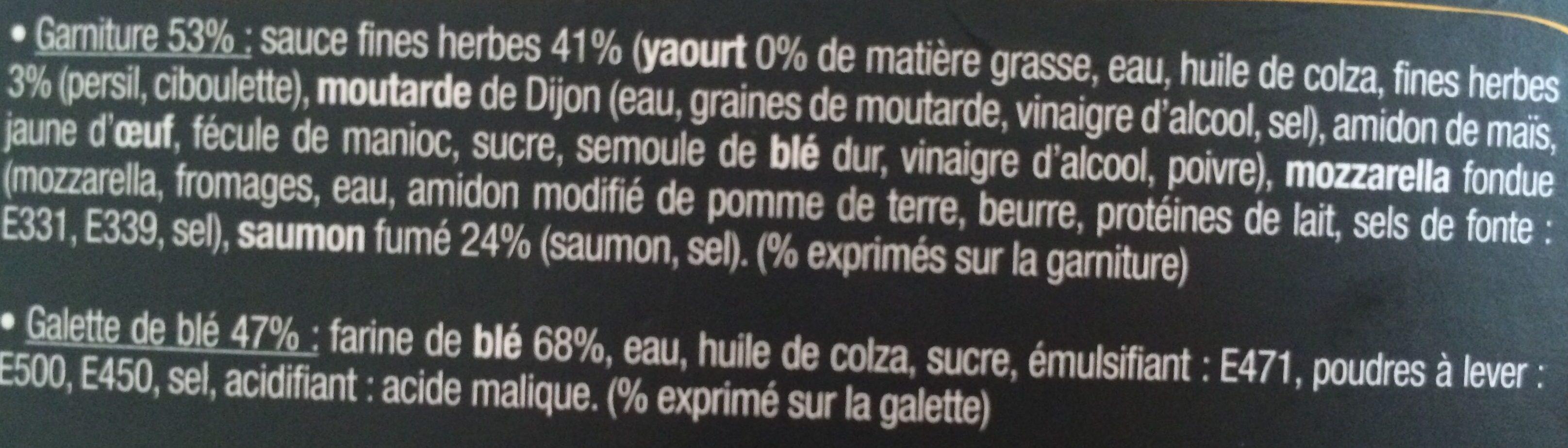 J'ai envie d'un wrap - Saumon fumé - Ingredients