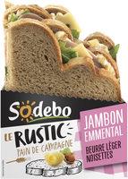 Le Rustic - Jambon Emmental Beurre léger et noisettes - Produit - fr